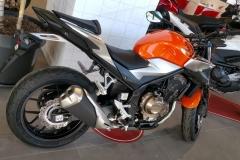 Honda CB500F Color Naranja Candy Energy en Servihonda.
