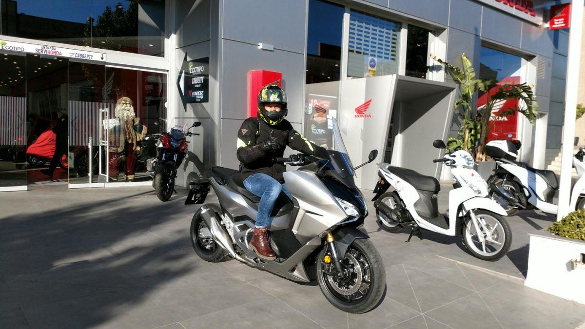 Ya se puede probar la nueva Honda Forza 750 en Servihonda.